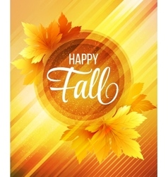 Autumn poster background vector