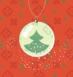 Christmas new year greeting card ball with new vector
