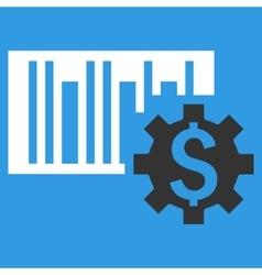 Barcode Price Setup Flat Icon vector image