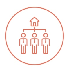 Three real estate agents line icon vector