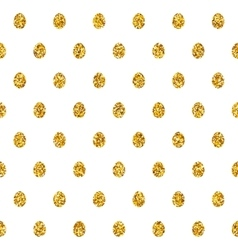 Seamless Pattern With Golden Eggs vector image