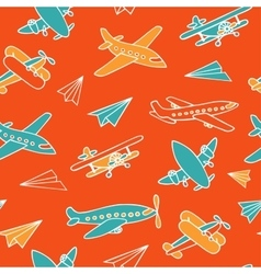 Seamless pattern of aircraft vector