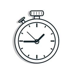Time and clock line icon design vector