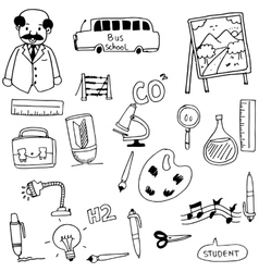 Element education for student in doodle vector