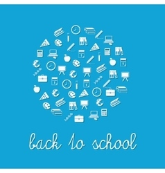 Back to school circle vector
