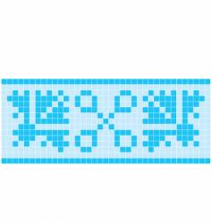 blue mosaic vector image