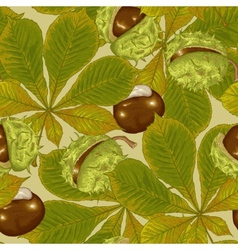 Chestnut Seamless Background vector image