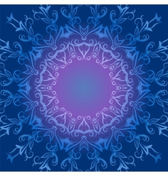 Circular ornament in blue tones vector