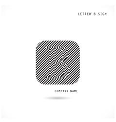 Creative letter B icon abstract logo design vector image vector image