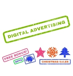 Digital advertising rubber stamp vector