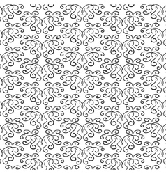 Elegant curly black and white pattern vector
