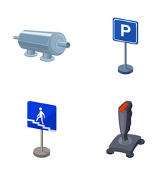 Filter traffic sign and other web icon in cartoon vector