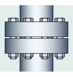Flange connection vector