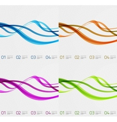 Flowing lines modern design templates vector image