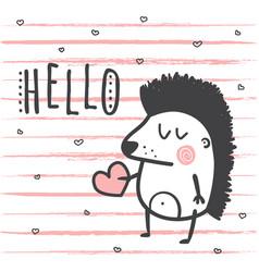 Hello hedgehog vector