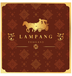 Lampang thailand carriage thai design red backgrou vector