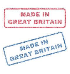 made in great britain textile stamps vector image