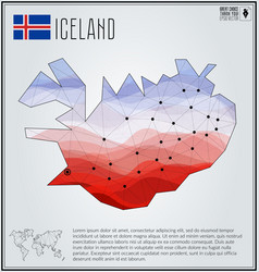 Polygonal map of iceland with gradient inside vector