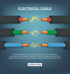 Poster with cartoon of electrical vector