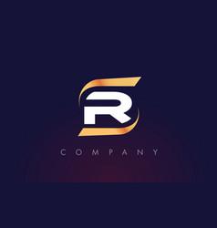 r letter logo design modern letter template vector image