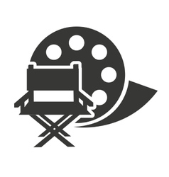 reel tape with cinema icon vector image
