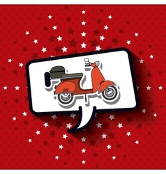 scooter pop art design vector image