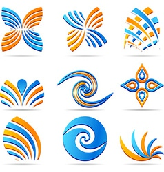 set of Company Logos vector image