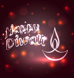 Shiny happy diwali background vector image vector image