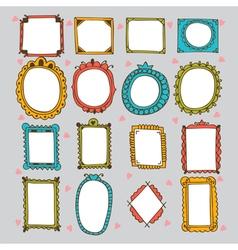 Sketchy ornamental frames and borders doodles vector