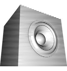 Striped sound-system speaker icon isign vector