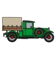Vintage green truck vector