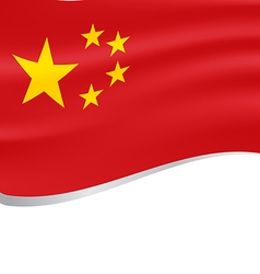 Waving flag of China isolated on white background vector image
