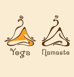 Yoga logo 2 vector