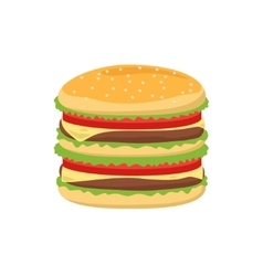 Dinner buns burger icon vector