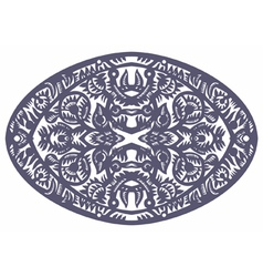 Oval pattern vector
