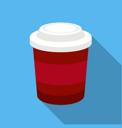 coffee icon in flat style for web vector image