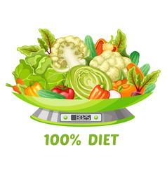 Light vegetable diet concept vector