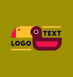 Flat icon on background bird logo vector