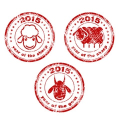 2015 new year stamps vector