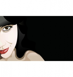 Woman a smile vector