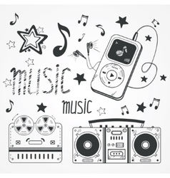 Sketchy music vector