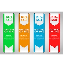 Set of colored banners for sale vector