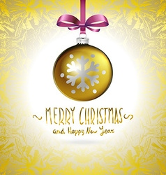 Golden realistic Christmas balls vector image