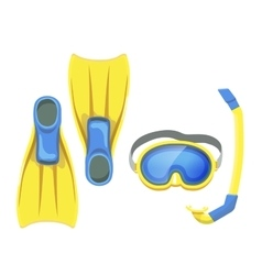 Isolated snorkeling equipment vector