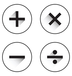 Basic mathematical symbols vector
