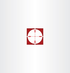 Red icon sniper target symbol vector