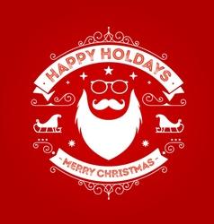 Christmas Badge 8 vector image