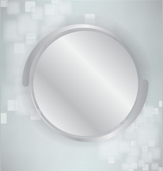 Abstract background with silver and realistic vector image