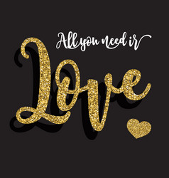 all you need is love background vector image vector image