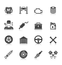 Auto Service Icons set vector image vector image